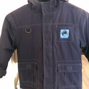 Fleece lined filled jacket